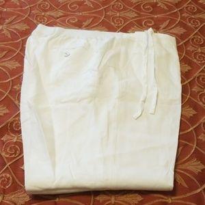 Charter Club White Linen Slacks 2X